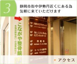 3.静岡市街中伊勢丹近くにある為気軽に来ていただけます
